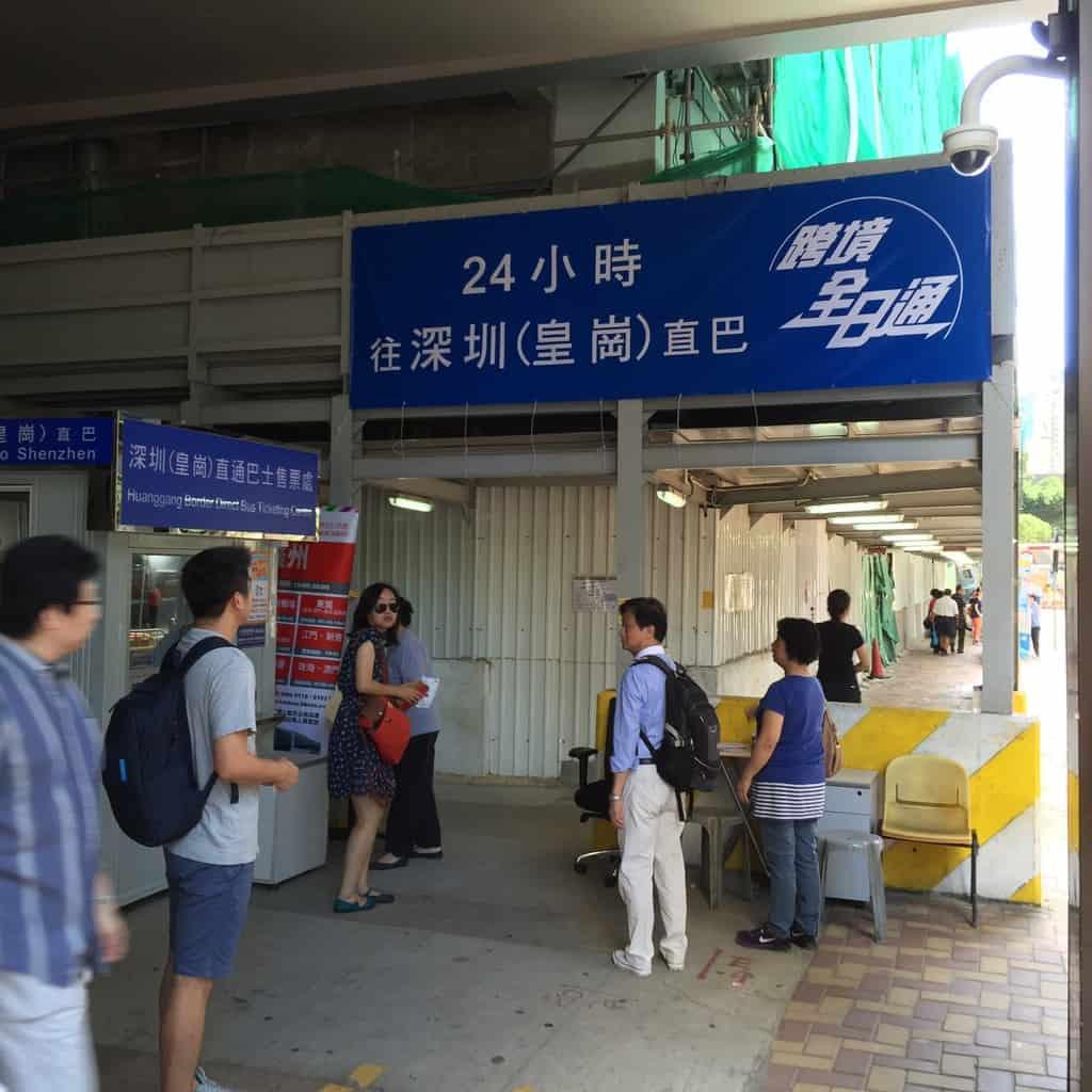 Wanchai to Lokmachau  Bus ticket counter