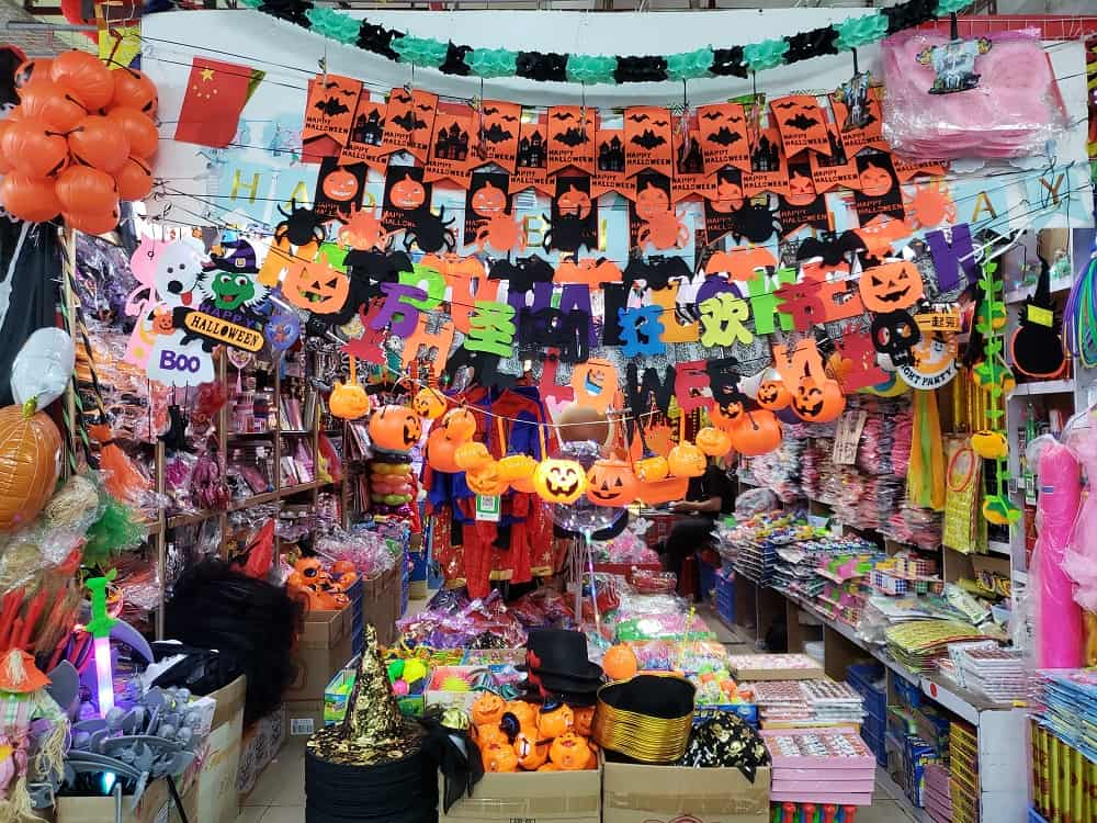 Sungang Market with Halloween decorations
