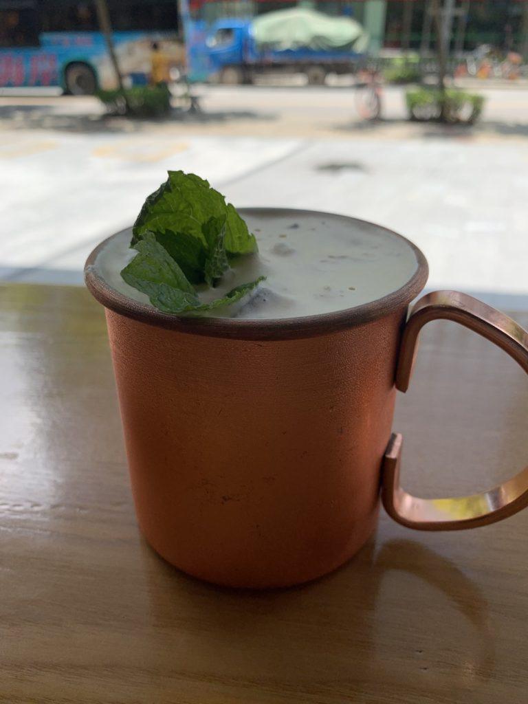 Mint Mojito cold brew coffee cocktail