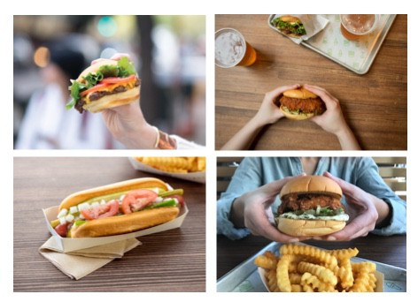 Shake Shack burgers and hot dogs