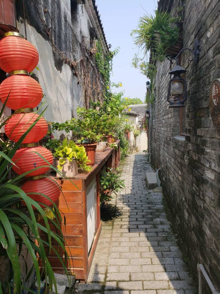 Plants and alleyways in the Hakka town