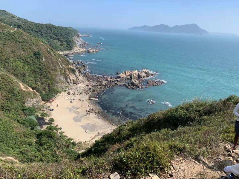 Scenic view of Dongchong beach Shenzhen